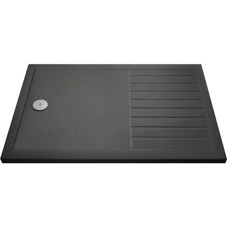 Nuie TR711490 Shower Trays | Rectangular Walk-In Shower Tray 1400 x 900, Slate Grey