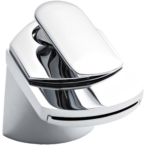 Nuie UTY385 Mona ǀ Modern Bathroom Round Mono Basin Mixer Tap, 80mm x 122mm, Chrome