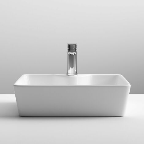 Nuie Vessels Square Countertop Basin 485mm Wide - 1 Tap Hole