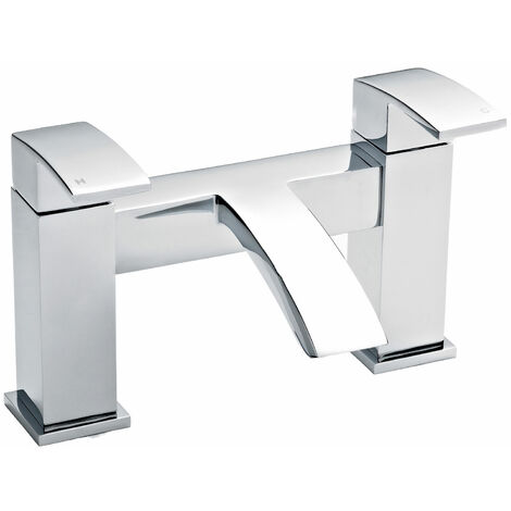 Nuie Vibe Bath Filler Tap Pillar Mounted - Chrome