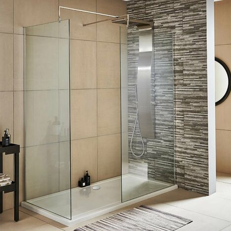 Nuie Walk-In Shower Enclosure 1600mm x 800mm (1000mm+800mm Glass) with Tray