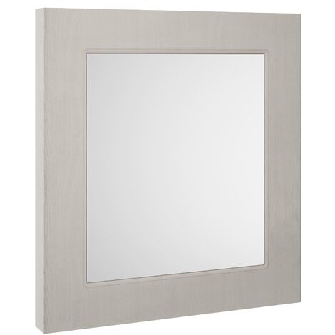 Nuie York Bathroom Mirror 800mm H x 600mm W - Stone Grey