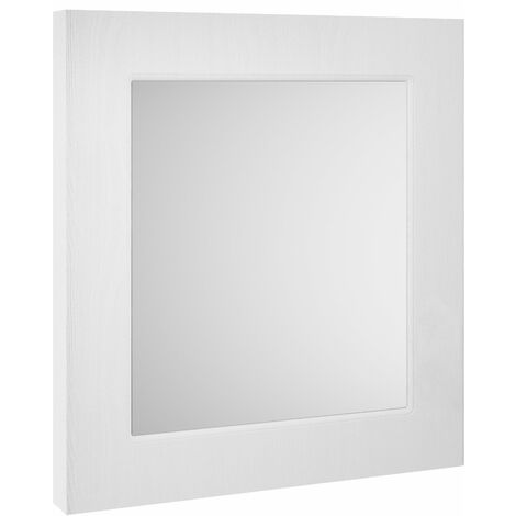 Nuie York Bathroom Mirror 800mm H x 600mm W - White Ash