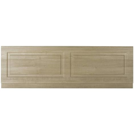 Nuie York Gladstone Oak 1700mm Front Bath Panel with Plinth - OLP305
