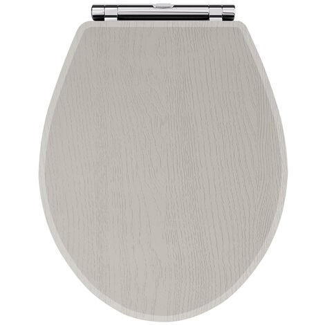 Nuie York Soft Close Toilet Seat - Stone Grey