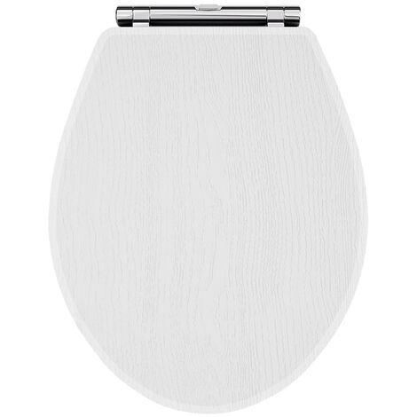 Nuie York Soft Close Toilet Seat - White Ash