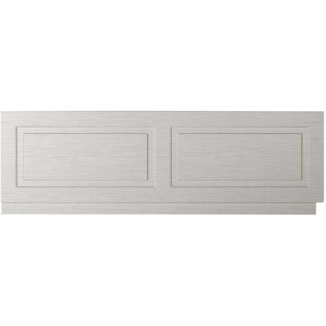 Nuie York Stone Grey 1700mm Front Bath Panel with Plinth - OLP205