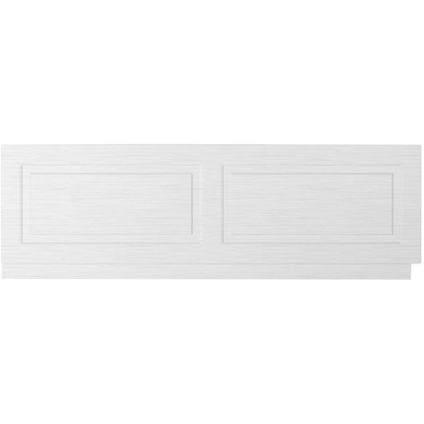 Nuie York White Ash 1800mm Front Bath Panel with Plinth - OLP107