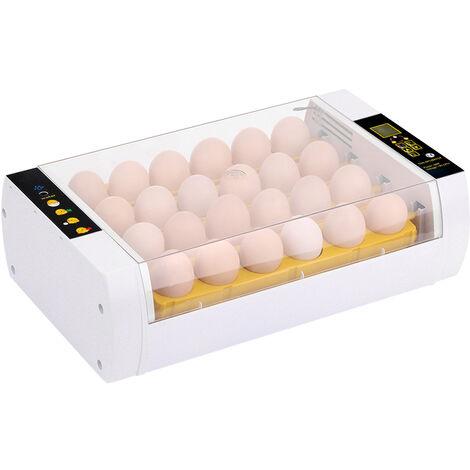 Numerique Egg Incubateur 24 Oeufs Automatique De Controle De Temperature Automatique Egg Mise Led Fonction D'Alarme Lumineuse Pour Observer La Croissance Volaille Automatique Hatcher