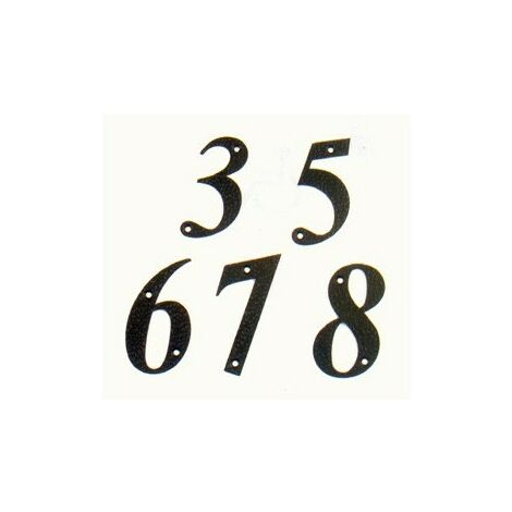 Numéro 8 -m.4 noir 10cm. affichage