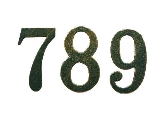 Numero civico in ghisa verde ant n cm