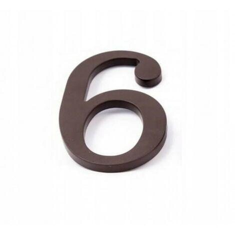 Numéro de maison chiffre maison en plastique brun