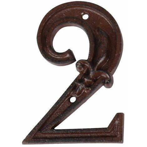 Numéro de maison en Fonte 1 11,4x4.9x1cm
