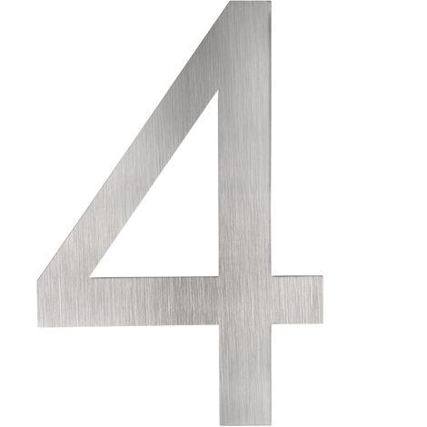 Números para casas en acero inoxidable - números para residencias, número de calle con estructura de acero inoxidable, número para vivienda no magnético