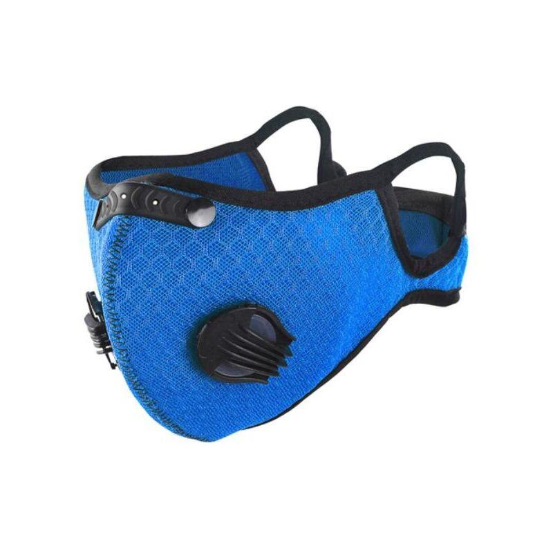 Image of Lkm Security - [NUOVA] Mascherina sportiva con filtro in carbone e filtro sostituibile IN TESSUTO 95% Mascherina di protezione antipolvere non DPI