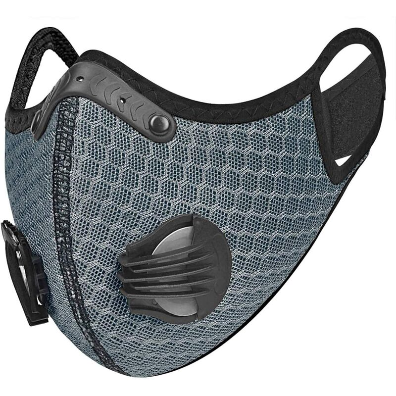 Image of [NUOVA] Mascherina sportiva con filtro in carbone e filtro sostituibile IN TESSUTO 95% Mascherina di protezione antipolvere non DPI non DM colore