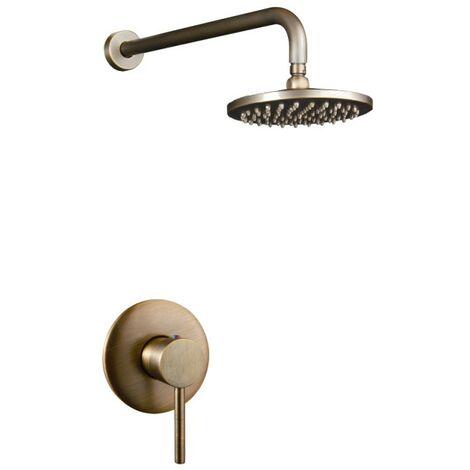 Nur Duschkopf Bronze-Brausebatterie-Set