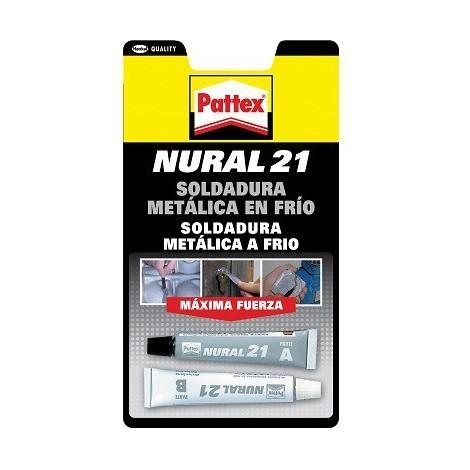 Nural 21 soldadura metalica en frio 2x22ml PATTEX