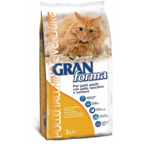 Nutrena Gran Forma POLLO, TACCHINO E VERDURE - Secco gatti adulti - Kg. 2