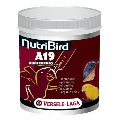 NutriBird A19 Alta Energía Versele Laga para loros. 800gr