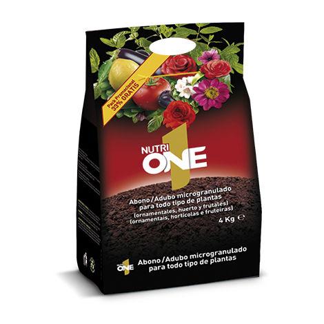 Nutrione Abono granulado para Plantas. Fertilizante Concentrado microgranulado Premium, 4 Kg, (3 + 1 Gratis), Negro