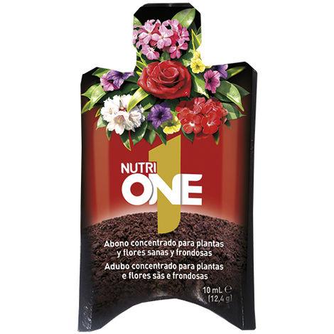 Nutrione Abono líquido Concentrado Plantas y Flores. Fertilizante Premium, Ingredientes Naturales, Monodosis 10 ml