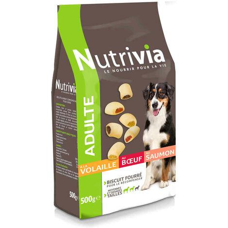 """main image of """"Nutrivia - Biscuits Fourrés pour Chien de Moyenne et Grande Taille - 500g"""""""