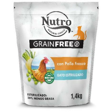 NUTRO GRAIN FREE GATO ADULTO ESTERILIZADO POLLO 1.4KG