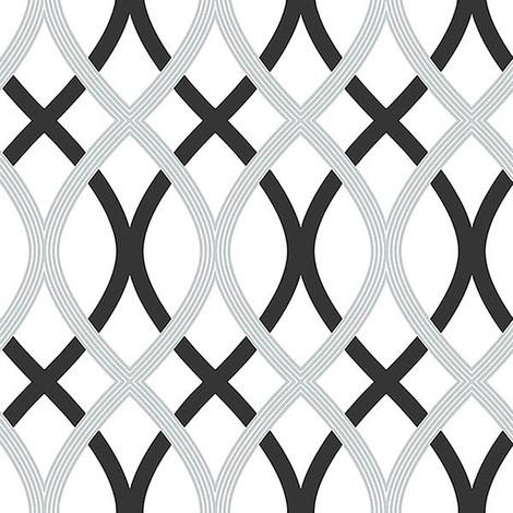 Nuwallpaper Black And Silver Lattice Peel Stick Wallpaper