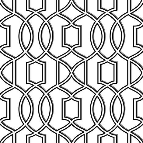 Nuwallpaper Uptown Trellis Black White Peel Stick Wallpaper