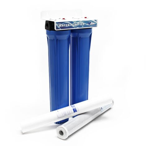 NW-BRK02 2 Etapes Filtre à Eau 20Pouces - 508mm 5µ Filtre Sédiments Charbon actif bloc