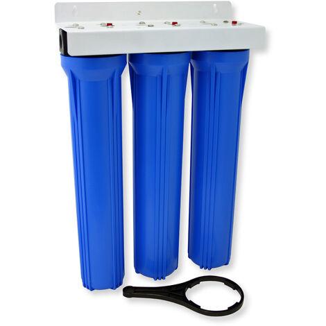 NW-BRK03 3 Etapes Filtre à Eau 20Pouces - 508mm 5µ Filtre Sédiments Charbon actif bloc granulés