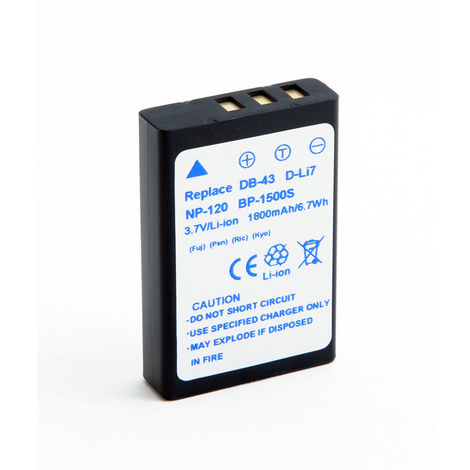 NX - Batería cámara de fotos y cámara de video 3.7V 1800mAh - NP-120 FUJIFILM ;