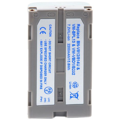 NX - Batería cámara de fotos y cámara de video 7.2V 2000mAh - VMBPL13 ; VM-BPL13