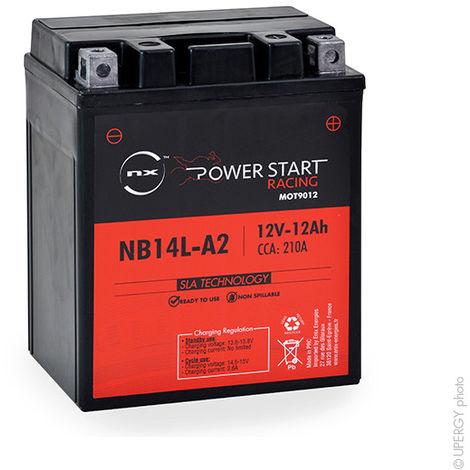 NX - Batería moto YB14L-A2 / NB14L-A2 / 12N14-3A 12V 12Ah