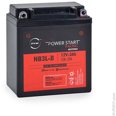 NX - Batería moto YB3L-B / NB3L-B AGM 12V 3Ah