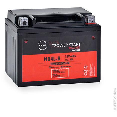 NX - Batería moto YB4L-B / YB4L-A / NB4L-B 12V 4Ah