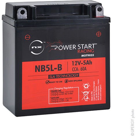 NX - Batería moto YB5L-B / NB5L-B / 12N5-3B AGM 12V 5Ah