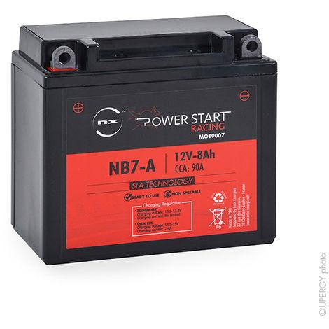 NX - Batería moto YB7-A / NB7-A / 12N7-4B AGM 12V 8Ah