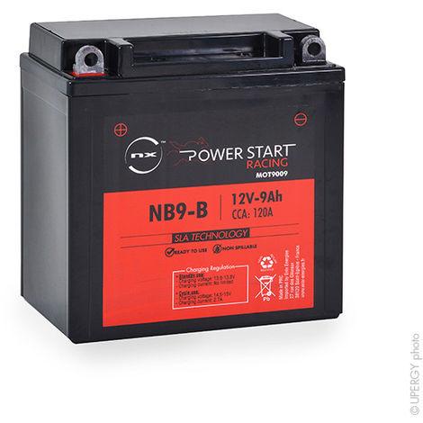 NX - Batería moto YB9-B / YB9A-A / NB9-B / 12N9-4B-1 12V 9Ah