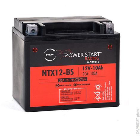 NX - Batería moto YTX12-BS / YB12B-B2 / NTX12-BS AGM 12V 10Ah