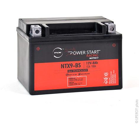 NX - Batería moto YTX9-BS/ NTX9-BS 12V 8Ah