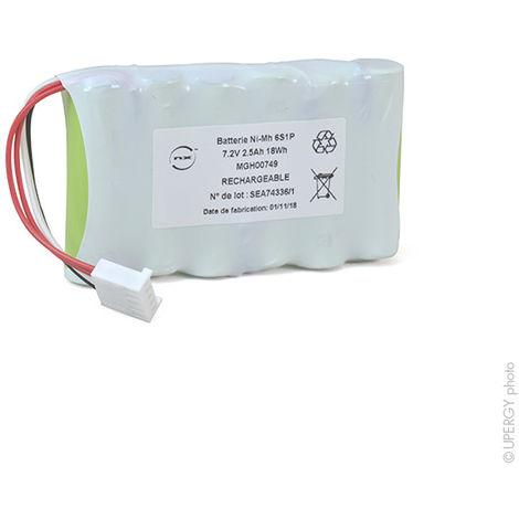 NX - Batería NiMH 6x AA 6S1P ST1 7.2V 2.5Ah MOLEX