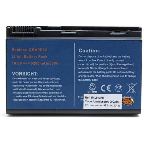 NX - Batería ordenador portátil 11.1V 5200mAh - AK.006BT.018 ; BT.00603.029 ; BT