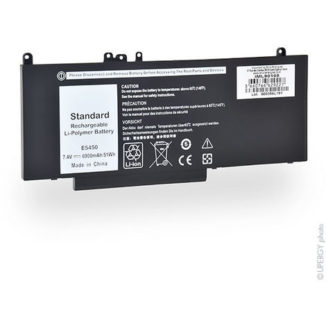 NX - Batería ordenador portátil 7.4V 6900mAh - 079VRK ; 0G5M10 ; 0WYJC2 ; 451-BB