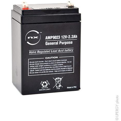 NX - Batería plomo AGM NX 2.2-12 Uso general 12V 2.2Ah F4.8