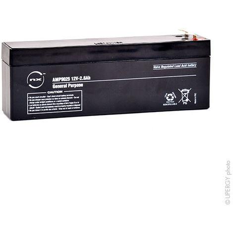 NX - Batería plomo AGM NX 2.6-12 General Purpose 12V 2.6Ah F4.8