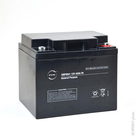 NX - Batería plomo AGM NX 45-12 General Purpose FR 12V 45Ah M6-F