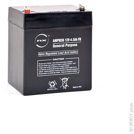 NX - Batería plomo AGM NX 4.5-12 Uso general - Estacionaria FR 12V 4.5Ah F4.8