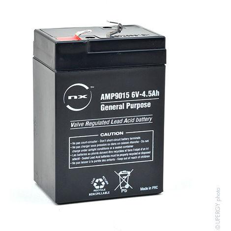 NX - Batería plomo AGM NX 4.5-6 General Purpose 6V 4.5Ah F4.8
